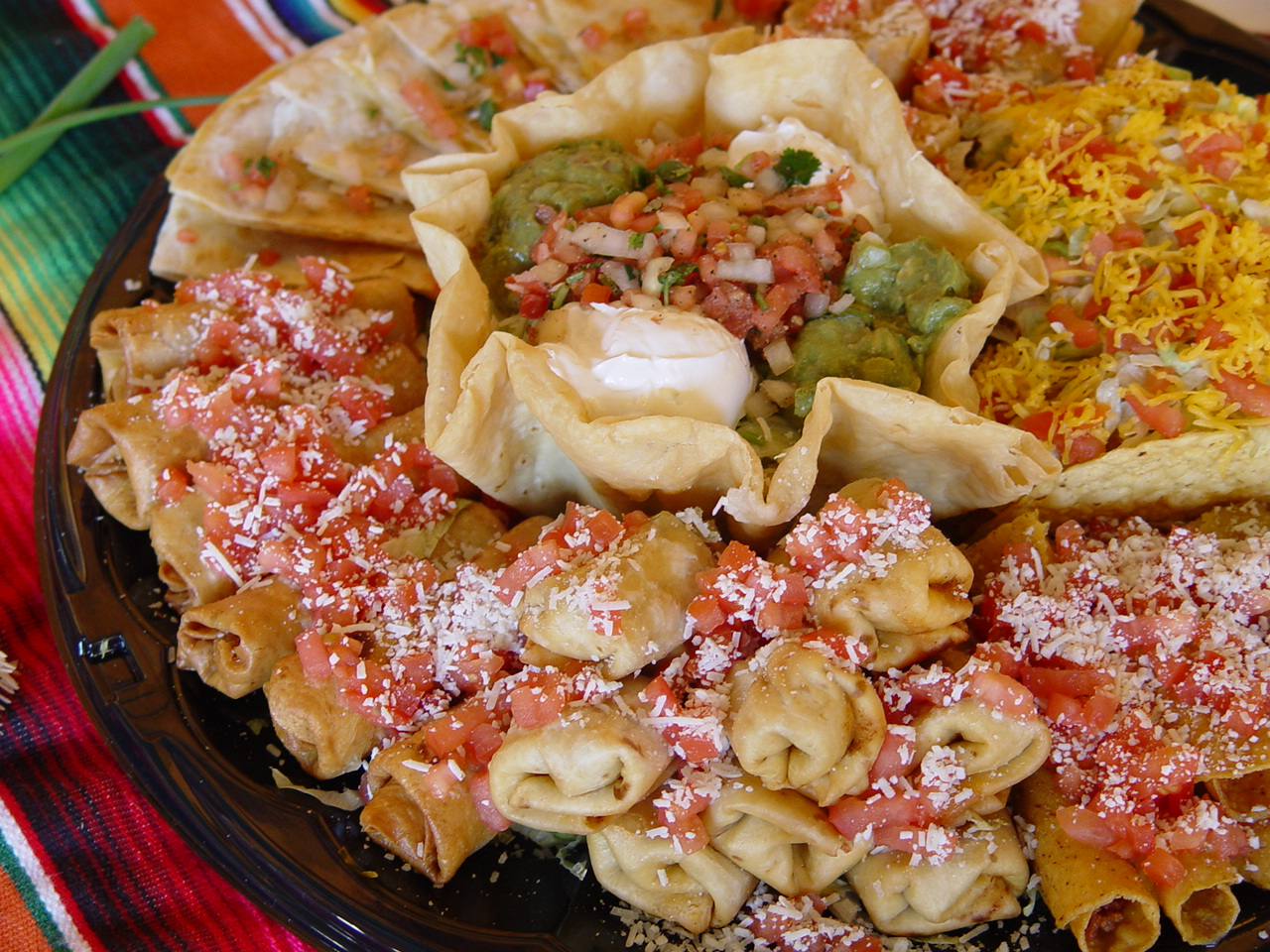 mexican catering party platter